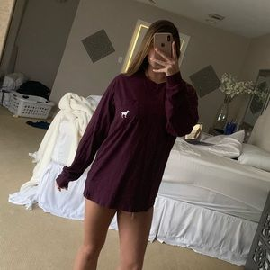 Maroon pink long sleeve